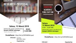 Coaching for research proposal dan Coaching for academic publication